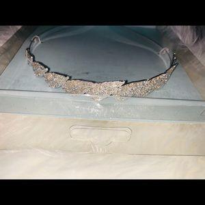 David Tutera rhinestone headband